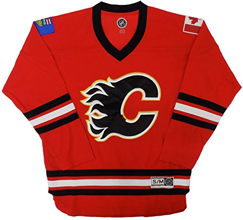 Calgary Flames Blank Red Men's Home Team Apparel Jersey (Large/X-Large)