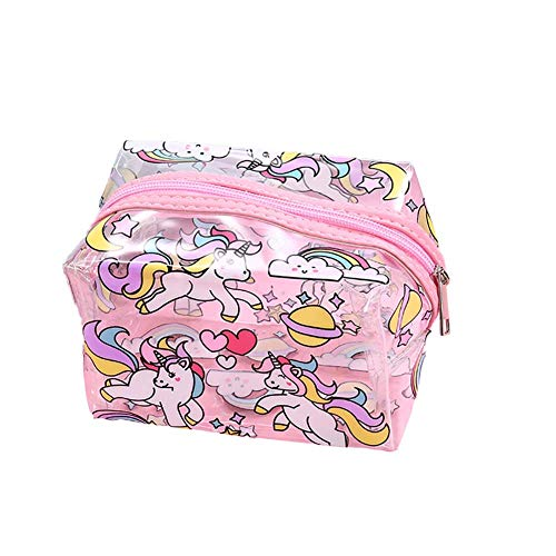 MoGist Trousse de Toilette Sac de Rangement Imperméable Sac de Voyage Maquillage Grande Capacité Sac à Main Étanche PVC Rose Transparent