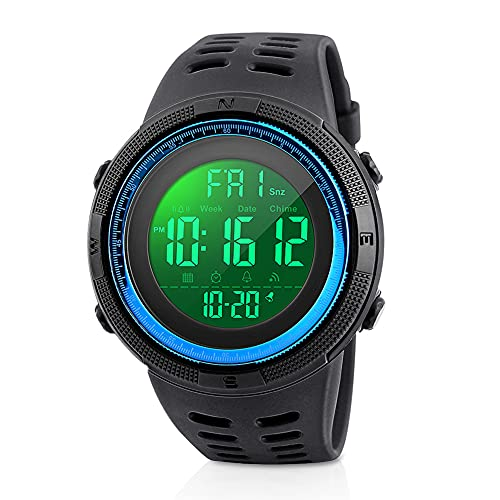 Reloj Deportivo Digital para Hombre, Welltop Reloj Deportivo Impermeable Reloj para Correr...