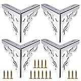 AZHom Pies de Patas de Muebles de Metal 4pcs, Patas de gabinete de sofá Moderno para reparación y restauración de vestidor, Armario, Mesa de té, shel de encimera