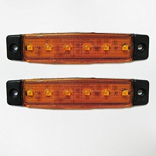 Universel 2 x 24 V LED Orange Jaune clair Indicateur Side Marker lumière