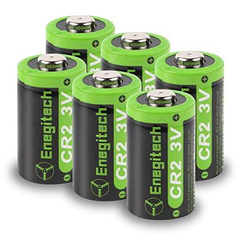 Enegitech CR2 3V Lithium Battery 800mAh 6 Pack with PTC Protection DL-CR2 for Laser Boresighter Laser Pointer Golf Rangefinder Funifilm Instax Mini55 Baby Monitor Flashlight
