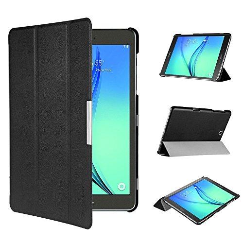 EasyAcc Ultra Slim Hülle für Samsung Galaxy Tab A 9.7 - mit Standfunktion & Automatischem Schlaf Funktion PU Leder Hülle - Schwarz