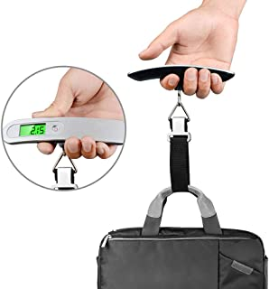Luggage Scales, Portable Digital Travel Scale Suitcase Scales Weights with Tare Function 110 lb/ 50KG Capacity