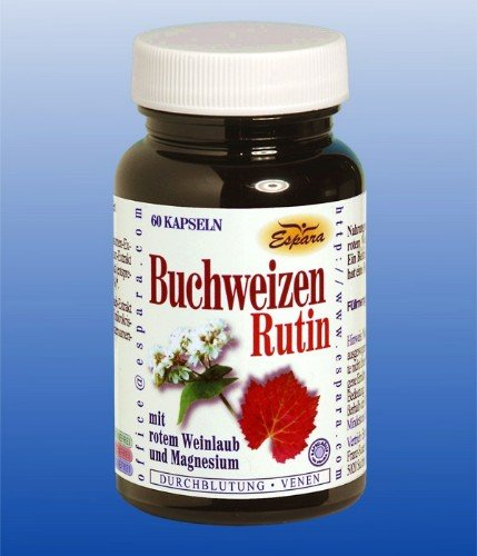 Venenkapseln Buchweizen Rutin und Magnesium 60 Kps.