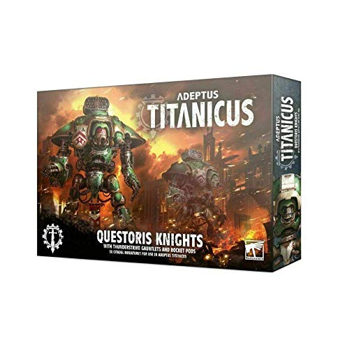 Adeptus Titanicus Games Workshop Questoris Knight with Thunder Strike Gauntlets and Rocket Pods