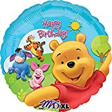 Disney Happy Birthday Pooh and Friends Foil Balloon-1 PC, Multicolor, 18'