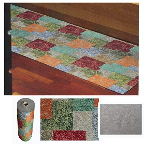 Comercial Candela Alfombra de Pasillo de Textil Resinado Antimanchas, Lavable | Base PVC Antideslizante y Aislante Diseño Pintura Moderna (65_x_200_cm)