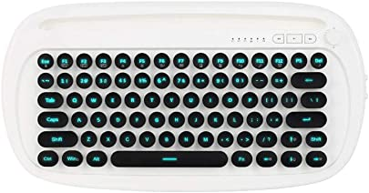 Grborn K510D Kabellose Bluetooth-Tastatur Dual Mode Ergonomisches Design Stabile Verbindung Multi-Device-Switch-Hintergrundbeleuchtung f r Tablet  Laptop und Smartphones Schwarz Wei