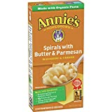 Annie's Spirals With Butter and Parmesan Macaroni and Cheese, 5.25 oz (Pack of 12)