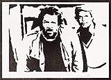 Terence Hill und Bud Spencer Poster Plakat Handmade Graffiti Street Art - Artwork