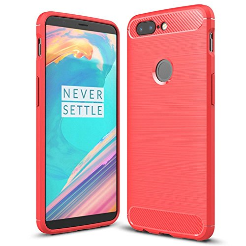 Oneplus 5t Case, Cruzerlite Carbon Fiber Shock Absorption Slim Case for Oneplus 5T (Red)
