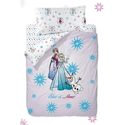 Disney Frozen Strong Heart Funda Nórdica de 3 Piezas para Cama 90, Cotton, Multicolor