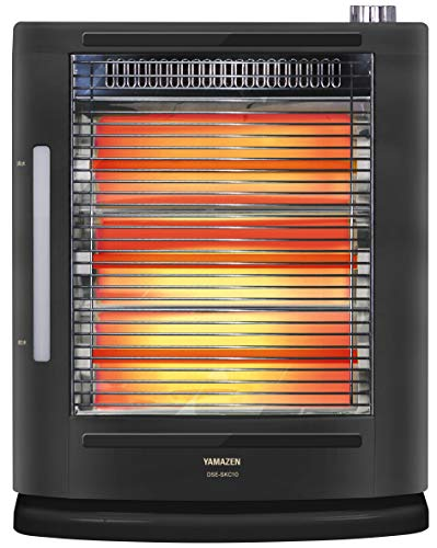 [山善] 遠赤外線 電気ストーブ 加熱式 加湿機能 障害物センサー搭載 3段階運転切替 小型 ブラック DSE-SKC10(AB) [メーカー保証1年]