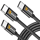 【3本セット 0.3m/1.2m/1.8m 】BRG USB Type C ケーブル ナイロン編み USB-A to USB-C タイプ C 充電ケーブル 高耐久 急速充電 高速データ転送 usbケーブル Type-C機器充電(ブラック)…