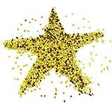 hocadon Confeti de Estrella Dorado en PVC, Confeti de Mesa Lentejuelas de Estrellas, 30g Brillante Estrella Confeti para Decoraciones de Navidad, Mesa, Regalo, Fiesta y Boda