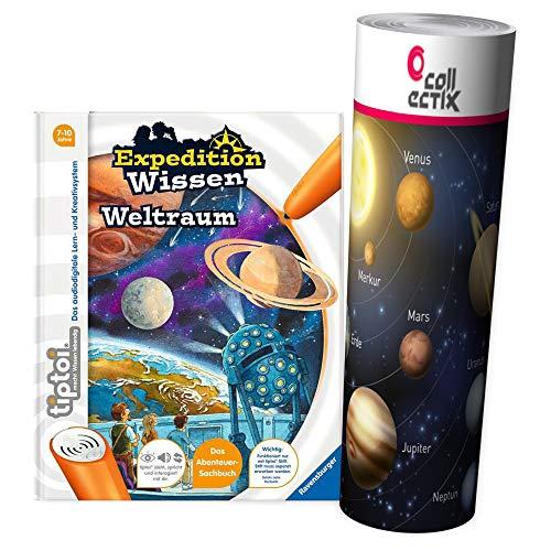 Ravensburger tiptoi ® Buch ab 7 Jahre Expedition Wissen: Weltraum + Kinder Planeten Weltall Poster by Collectix tip toi