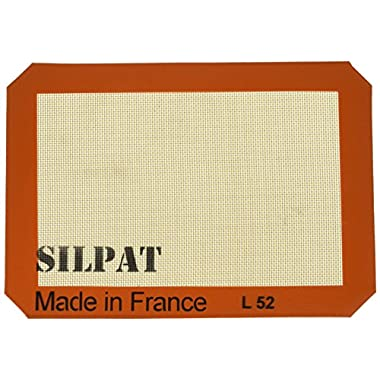Silpat Non-Stick Silicone Baking Mat, Jelly Roll Size, 8-1/4  x 11-3/4