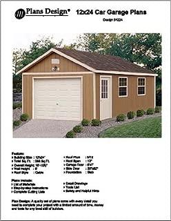 12' X 24' Car Garage Project Plans -Design #51224