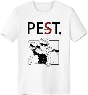 CaoGSH T-shirt à manches courtes pour ski, sports d'hiver Noir Illustration Pet But Not Pest Blanc