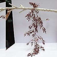 シミュレーションウィローつるの結婚式の花の壁の装飾花の窓バルコニーの装飾人工植物 (Color : レッド, Size : One Size)