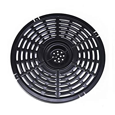Air Fryer Grill Pan Accessory, Steamer Rack, Air Fryer Replacement Grill Pan, Crisper Plate, Non-Stick Fry Pan, Dishwasher Clean, Compatible Power Gowise 5QT-5.8QT Air Fryers (Black)