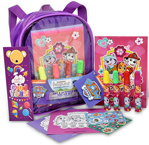 Paw Patrol Coloring and Activity Book Set, Includes Markers, Stickers, Gift Boutique Bookmark, Mess Free Crafts Color Kit, for Toddlers, Girls and Kids