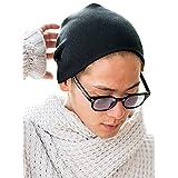 (シルバーバレットセレクト)SB select メンズ ニットワッチ 帽子 シングル コットン アクリル 221-3063 FREE(フリーサイズ) 80(Black/ブラック)