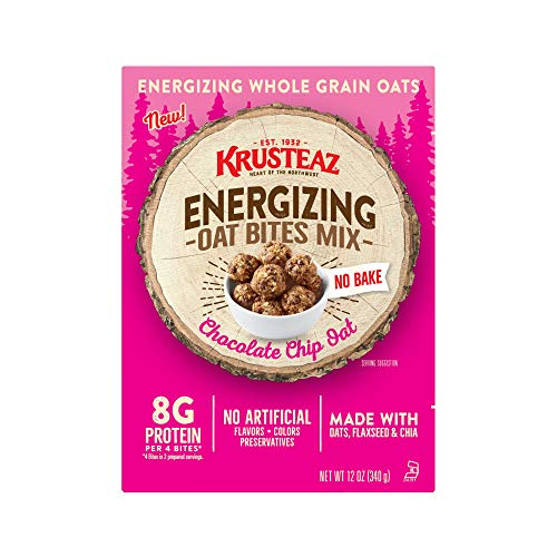 Krusteaz Chocolate Chip Oat Energizing Oat Bites Mix, 12-Ounce Boxes (Pack of 8)
