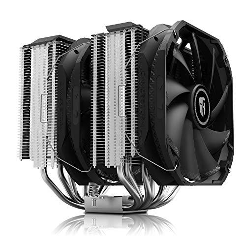 DEEP COOL Assassin III Dual-Tower CPU Kühler Luftkühler, 7 Heatpipes, Dual 140mm PWM Prozessorlüfters, 54mm RAM Platz, 280W TDP, 5 Jahre Garantie