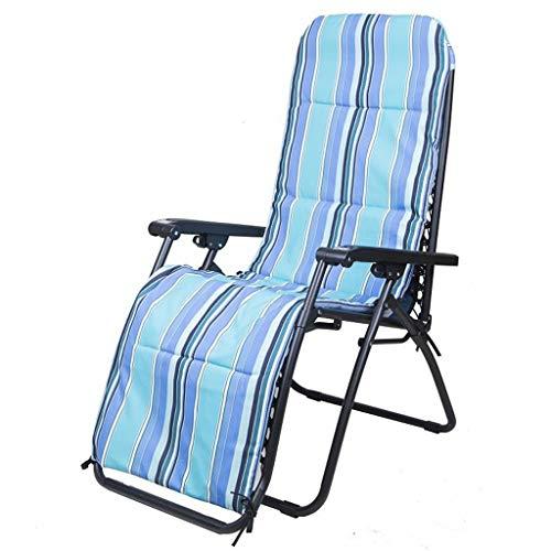 Zero Gravity Se Pliant préside la Chaise Longue de Sun Lounger, siège de Coussin épais de Rayure de redresseur de Jardin for l'utilisation de Salon de Salon, Chaise de gravité de lit de Soleil
