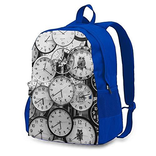 Reloj Arte al aire libre Ciclismo Mochila Capacidad antirrobo Adulto Mochila, Blue (Azul) - Blue-48