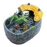 MUMUCW Creativa de Agua de Mesa pequeño Tanque de Peces de Acuario Pond Inicio del Tanque del Acuario de la Tortuga