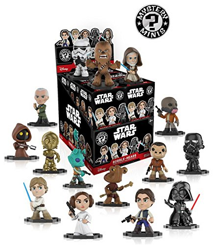 Funko Star Wars Classic Mystery Minis Display Case of 12 Blind Box Bobble-Heads - 12 x Mystery Minis Vinyl Figur