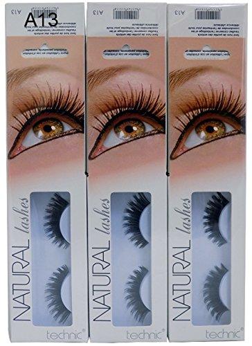 2 x Technic Natural Lashes False Eye Lashes Various A13