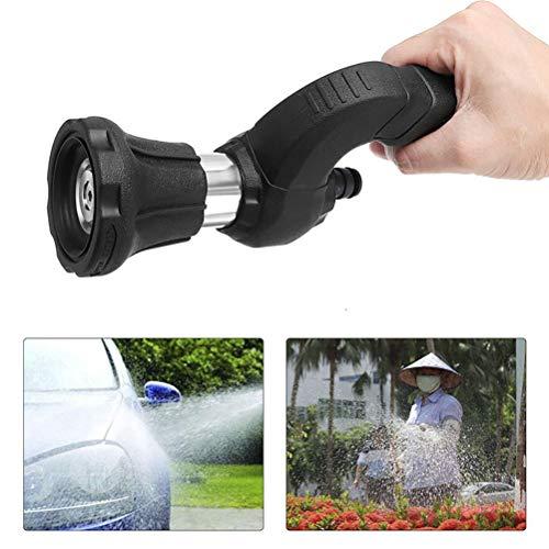 Pistola de agua a presión Ouskau, jeringa de jardín ajustable, boquilla de bombero para riego de jardín, lavado de coche