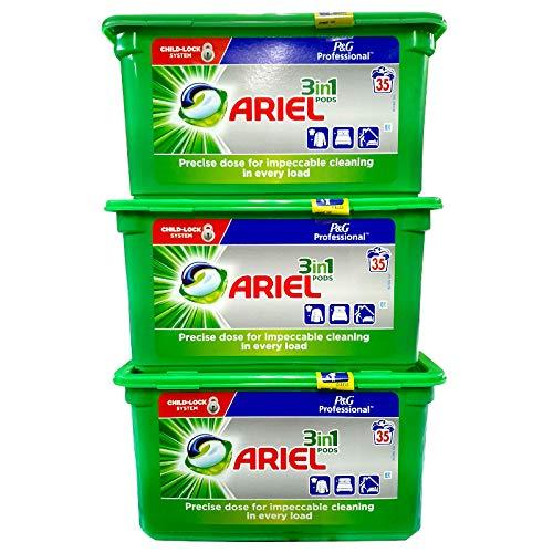 Ariel 3 En 1 Vainas Detergente Para La Ropa Regular 105 Unid