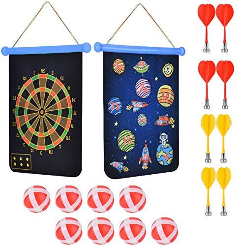 Wuudi Magnetische Dartscheibe für Kinder Sicher Mit Selbstklebenden Klettball-Pfeilen Outdoor Sports Magnetic Dart Game