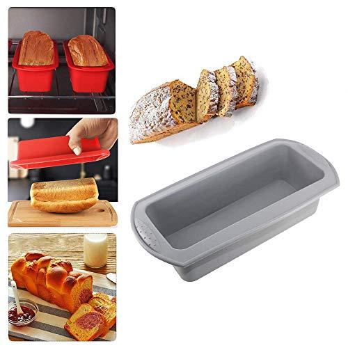 JHGJG rechthoek toast brood, DIY antiaanbakpan gebak siliconen bakplaat, Magnetron verwarming container geschikt voor het maken fudge muffin chocolade cake