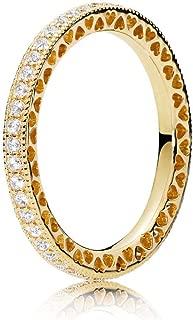 Hearts of PANDORA 18k Gold Plated PANDORA Shine Collection Ring