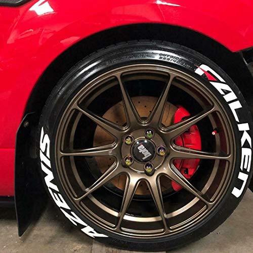 Falken Azenis - Pegatinas permanentes para neumáticos de 3,17 cm para ruedas de 35,56 cm a 55,88 cm, 8 unidades