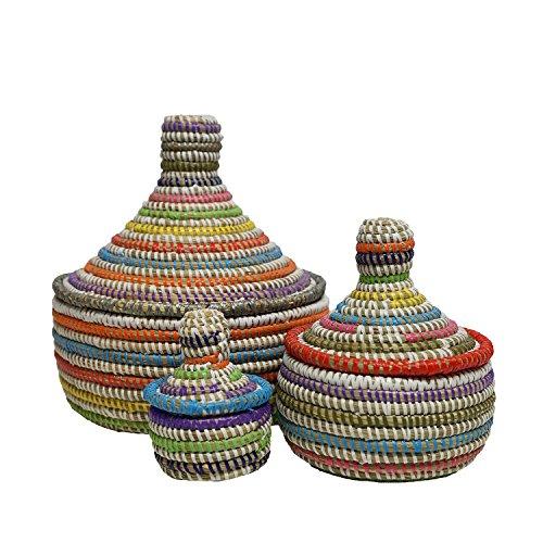 EA Déco Naturel & Design ABBSMUL Les Boites Thiapous, Plastique, Multicolore, 20 x 20 x 20 cm