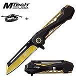 mtech usa us Couteau Pliant Japonais Tanto Dragon Ouverture assistée +1 Bracelet Cuir samourai