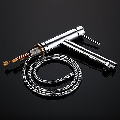 Homelody Verchromt Armatur Spüle Wasserhahn Brause Küchenarmatur ausziehbar Küche Mischbatterie Armaturen Spültisch Spültischarmatur - 5