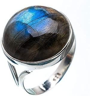 Labradorite Silver Ring, Blue Fire Labradorite Silver Ring, 925 Sterling Silver, Silver Ring, Handmade Jewelry, Size 3-13 US