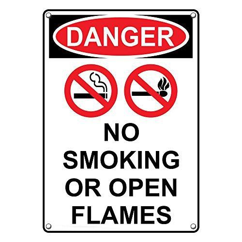 Weatherproof Plastic Vertical OSHA Danger No Ranking TOP12 Or Gorgeous Smoking Open Fla