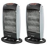 Best Halogen Heaters - AMOS 2 x Halogen Heater Three Bar Wide Review