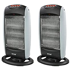Rapidly heats up the room; Three heat settings – 400W, 800W and 1200W Ideal as a supplementary heating source; Great solution for smaller spaces like bedrooms, offices or even caravans and holiday homes Oscillation function provides even heat distrib...