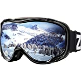 ZIONOR Lagopus Ski Snowboard Goggles UV Protection Anti Fog Snow Goggles for Men...
