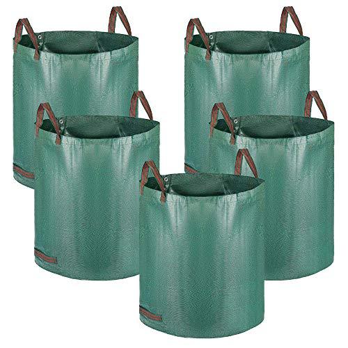 Alaskaprint 5X Gartenabfallsack Selbstaufstellend 272L 272 Liter Gartentasche Gartensack Abfallsack Laubsack...